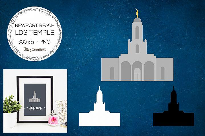 Newport Beach California LDS Temple Clipart
