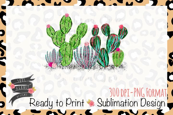 Watercolor Cactus Ready to Print