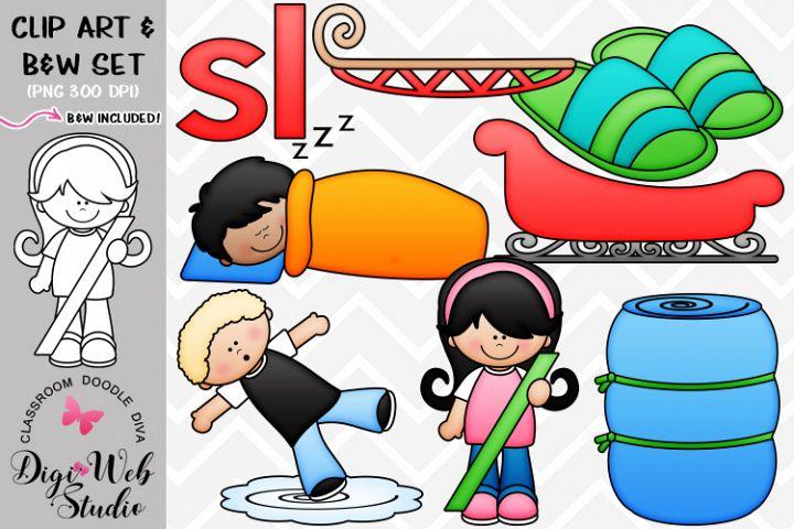 Clip Art / Illustrations - L Blends - sl Phonics