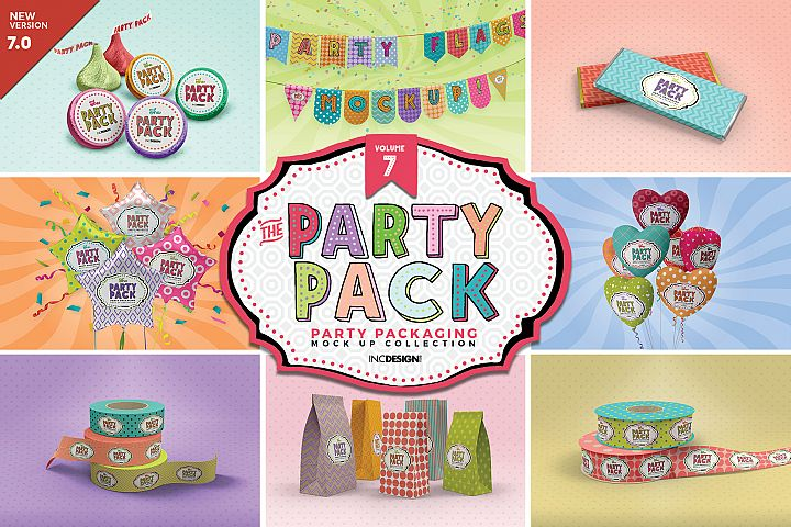 The Party Pack Mockup Collection VOLUME 7