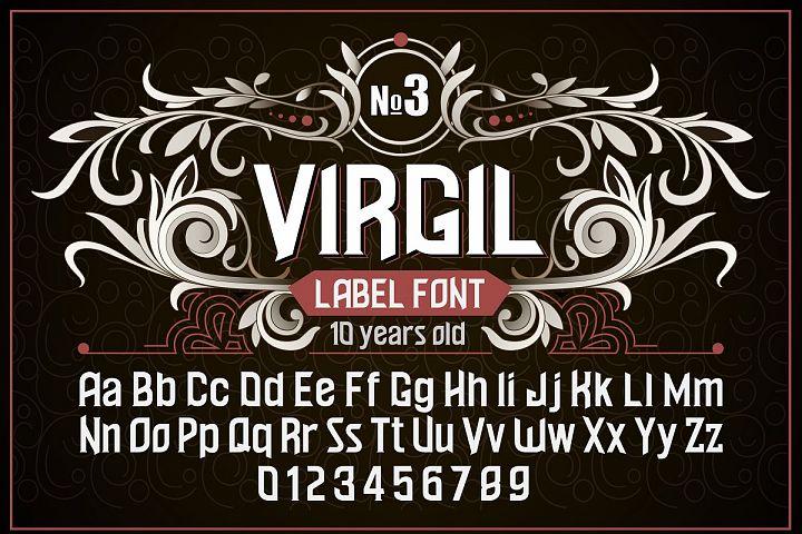 Vintage otf font Virgil