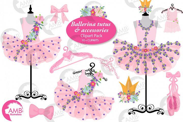Floral Ballerina Tutus clipart, Amb-2609