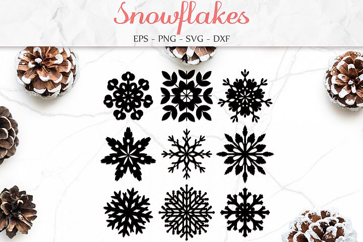 Snowflake Svg, Christmas Decor, Winter Clipart Svg