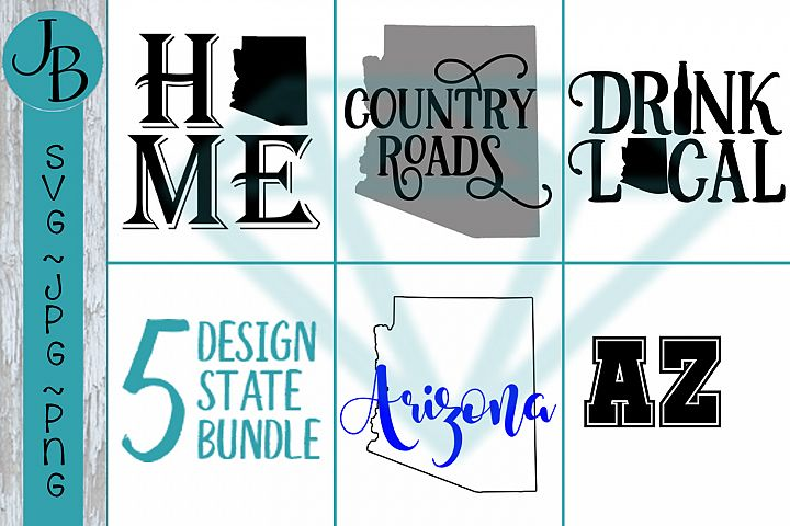 Arizona State Pride Bundle, AZ SVG Bundle