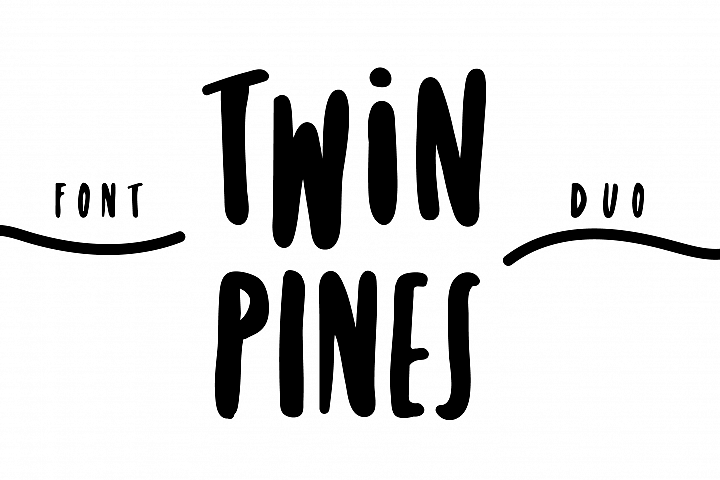 Twin Pines | Font Duo