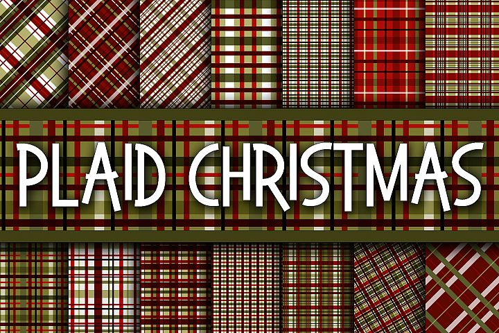 Plaid Christmas Digital Paper