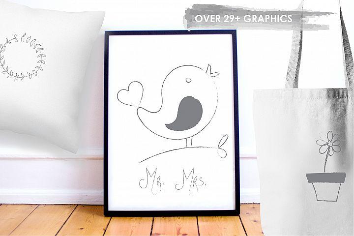 Chalkboard Doodles graphics and illustrations - Free Design of The Week Design 4