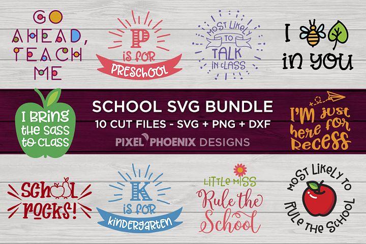 School SVG Bundle - SVG JPG DXF