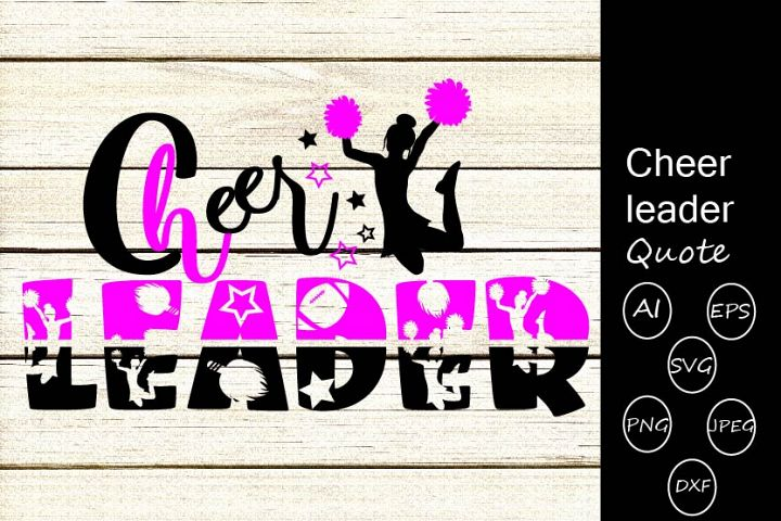 Cheer leader quote svg cutting files,women,female,girl quote