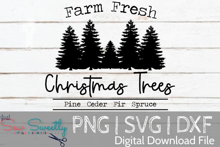 Farm Fresh Christmas Trees Sign SVG Cut File