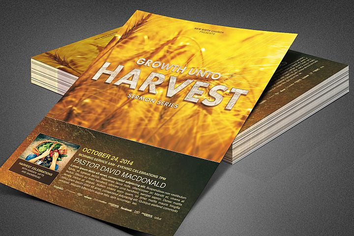 Growth unto Harvest Church Flyer