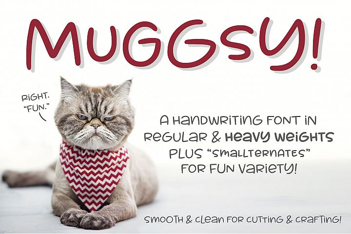 Muggsy - a short and stout fun font!