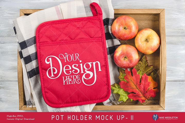 Pot Holder Mock up, Fall, Christmas, styled photo JPEG II