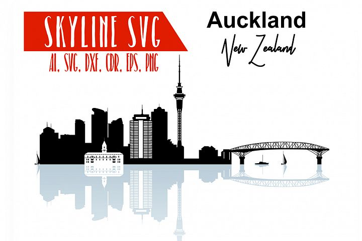 Auckland SVG, Auckland Vector Skyline Design elements