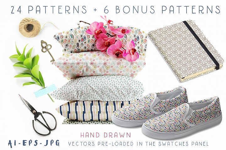 Hand Drawn Seamless Patterns Papers
