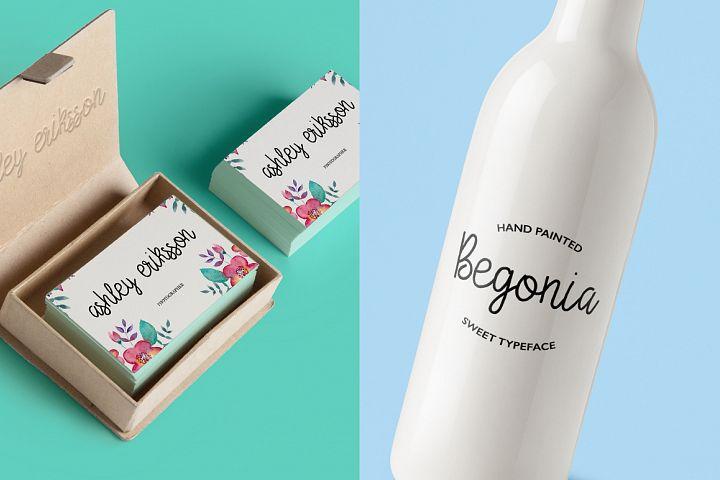 Begonia - Free Font of The Week Design 2