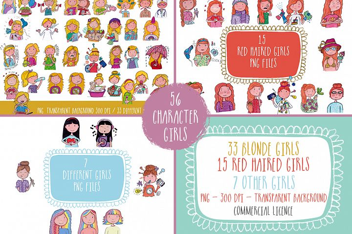 Girl Characters Clipart