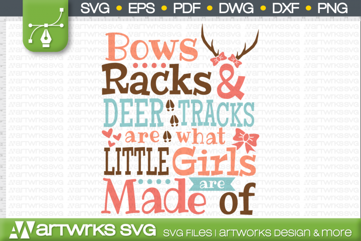 Hunting SVG files for Cricut | Bows racks and deer tracks