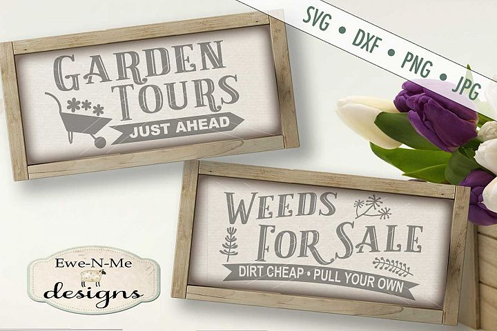 Garden Tours Weeds For Sale SVG DXF Files