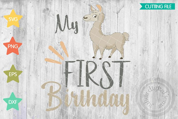 Llama birthday, Girl birthday, 1st Birthday SVG