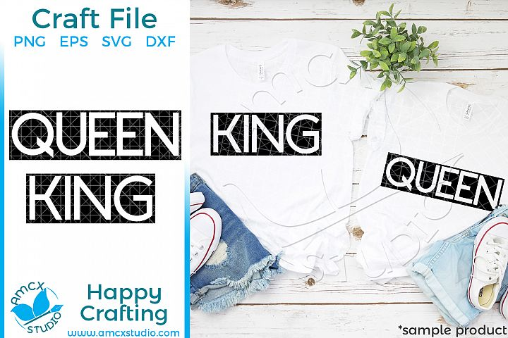 King and Queen Couples SVG file