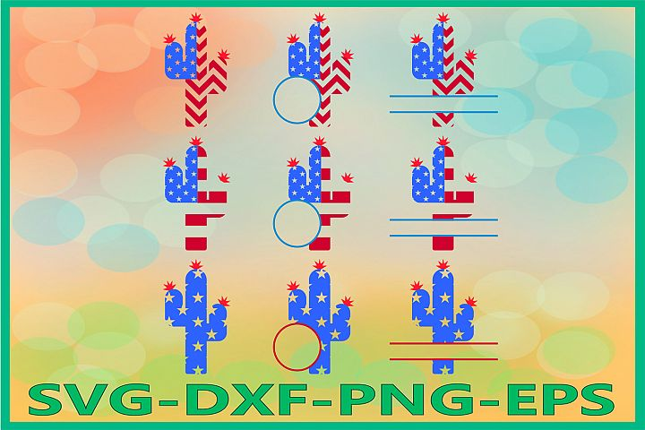 Cactus 4th of July svg,, American Flag 4th of July SVG