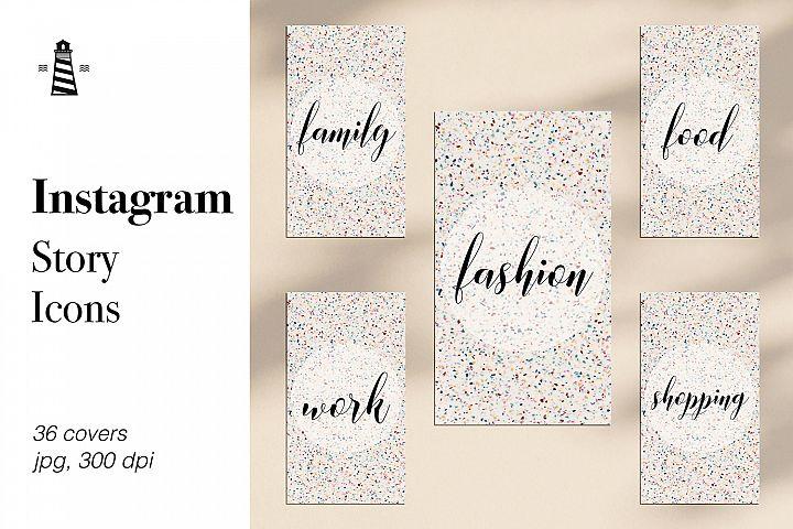Terrazzo Instagram Story Icons