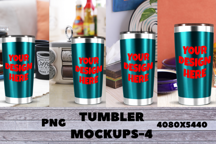 Tumbler Mockups With Kitchen Background|PNG