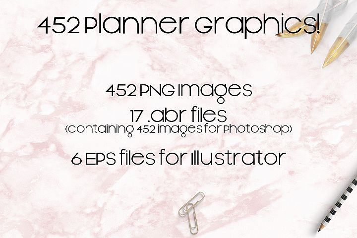 452 PNG Sticker Base Items for Planners, Journals, Diaries