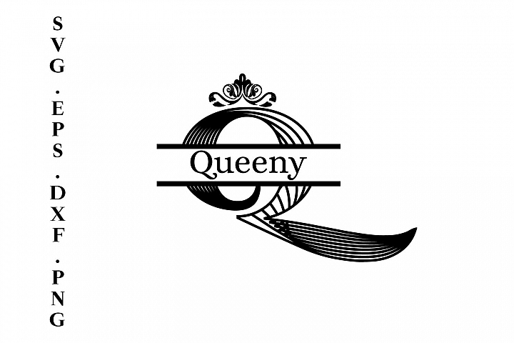 Queenie Split Monogram A-Z Letters