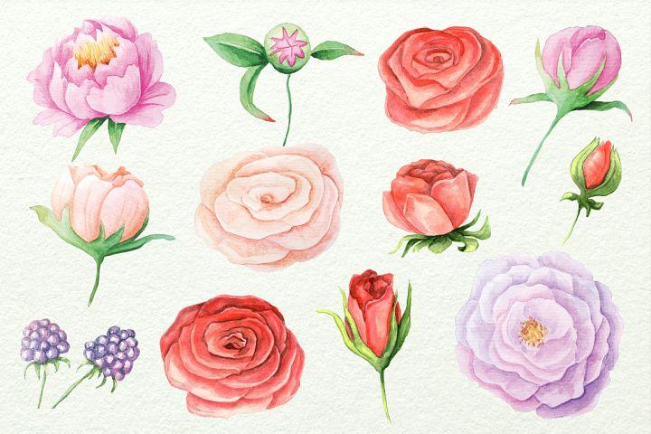 Watercolor Floral DIY Set - Free Design of The Week Design 1