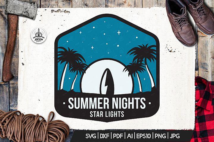 Surfing Vector Logo, Summer Retro Adventure Retro SVG File