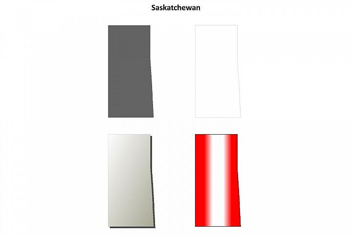Saskatchewan blank outline map set