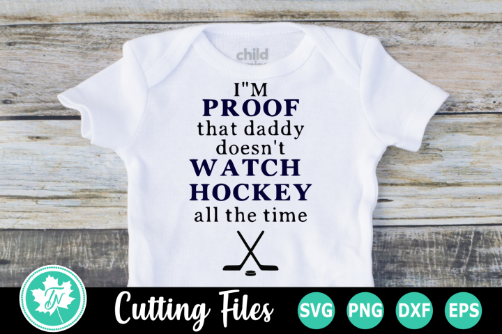Im Proof Hockey - A Sports SVG Cut File