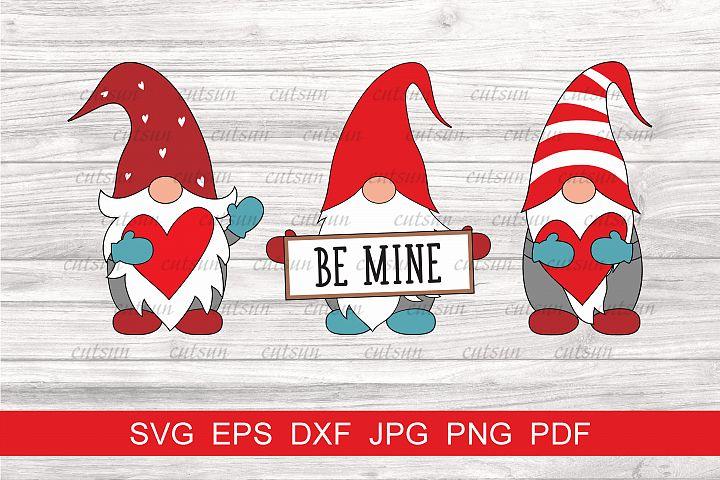 Gnomes Valentine SVG | Be Mine SVG | Love gnomes SVG
