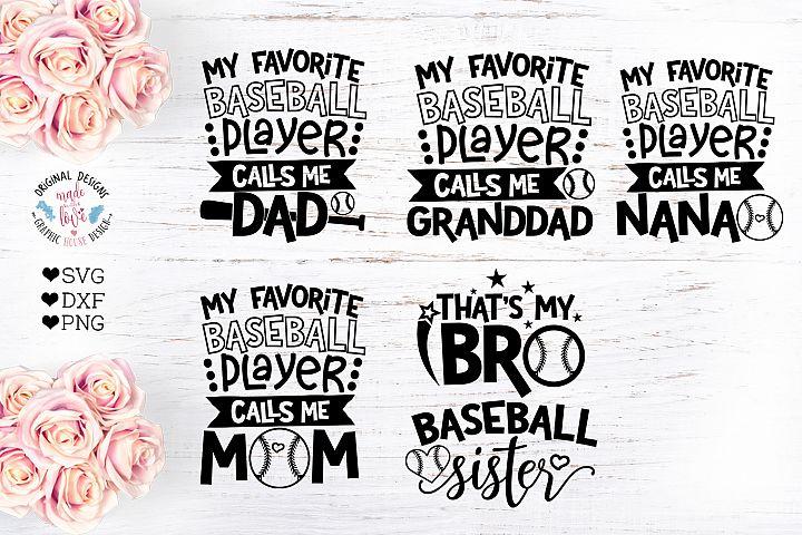 Baseball Mini Bundle Cut File