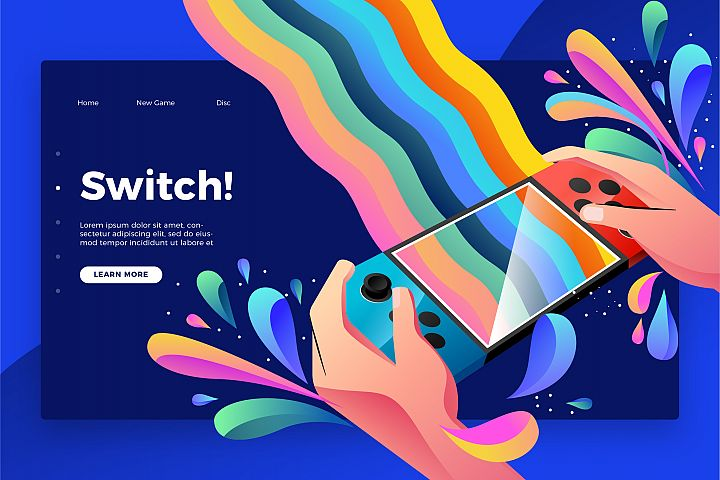 Switch - Banner & Landing Page