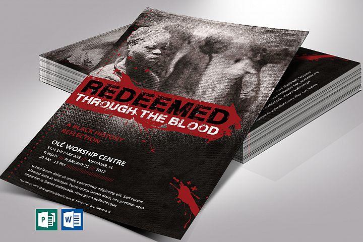 Redeemed Black History Flyer Word Publisher Template V1