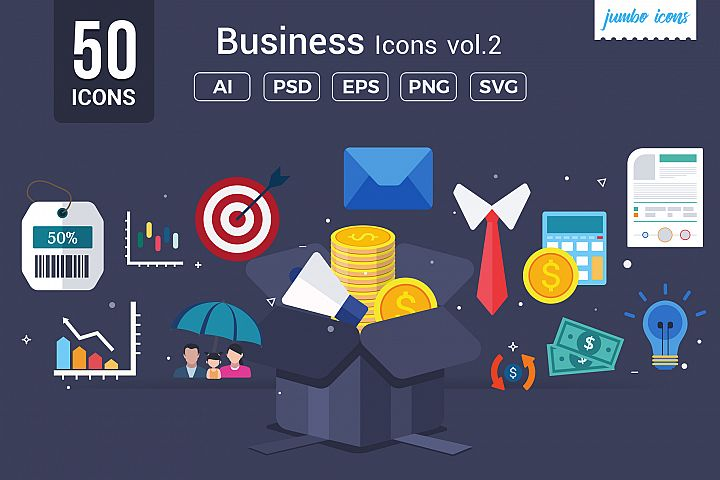 Business Vector Icons V2