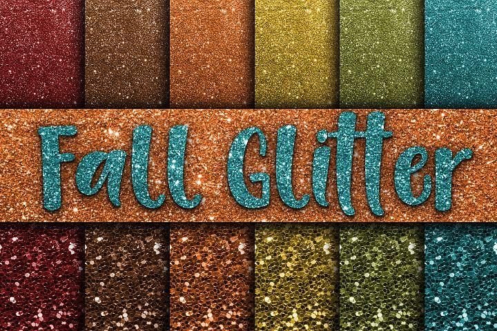 Fall Glitter Digital Paper Textures