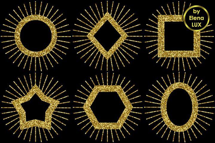 Gold Sequins Frame Set