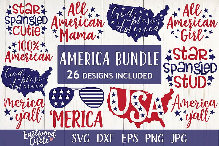 4th of July SVG Bundle - American Cut Files for Crafters