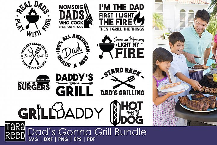 Dads Gonna Grill Bundle - Free Design of The Week