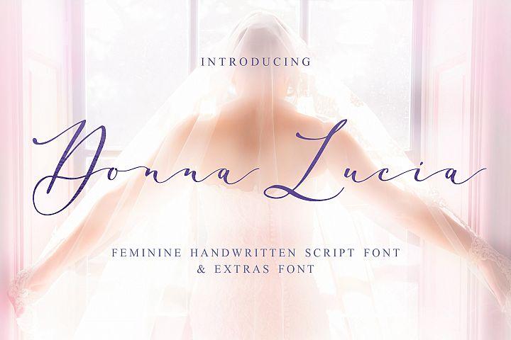 Donna Lucia font + Extras & Logo
