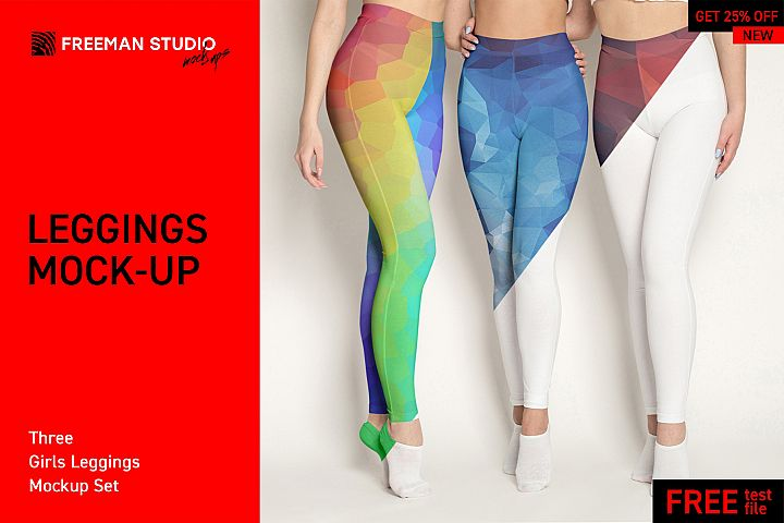 Three Girls Leggings Mock-Up Set