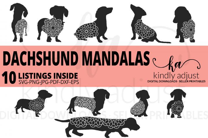 Dachshund Mandala SVG Bundle