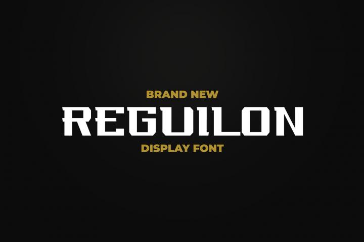 REGUILON Dispplay Font
