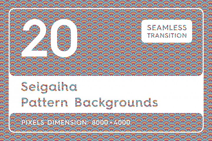 20 Seigaiha Background Textures. Seamless Patterns.