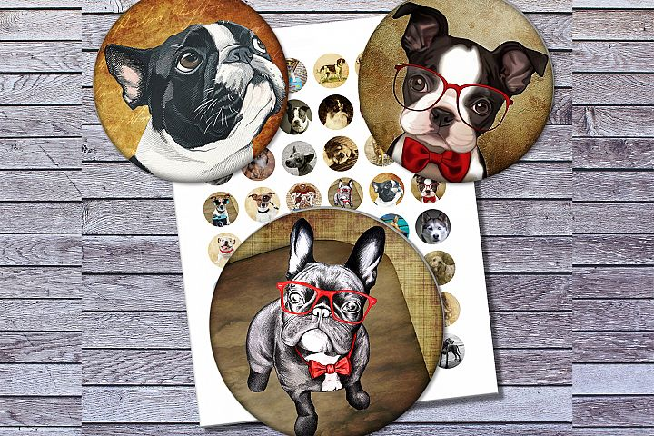 Vintage Dogs, Dogs Images, Digital Collage Sheet, Printables