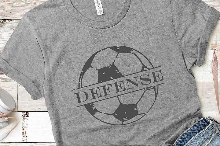 Soccer Defense Grunge SVG, Sublimation, PNG EPS Sports File